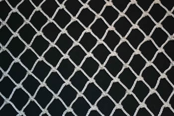 A piece of diamond nylon bird netting